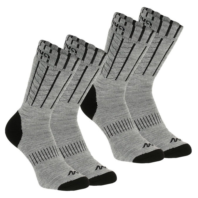 Adult Warm Snow Hiking Socks SH500,pewter, photo 1 of 8