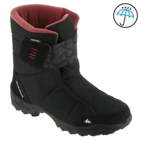 Women's Snow Hiking Warm Waterproof Boots SH300,black
