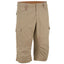 Men's Country Walking Cropped Bottoms NH500,dark chocolate truffle