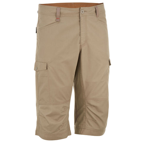 Men's Country Walking Cropped Bottoms NH500,light green