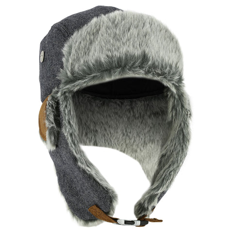 Wedze Fur Skiing Ushanka,granite