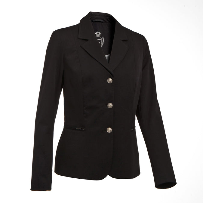 Women's Horse Riding Show Jacket Classic,black, photo 1 of 10