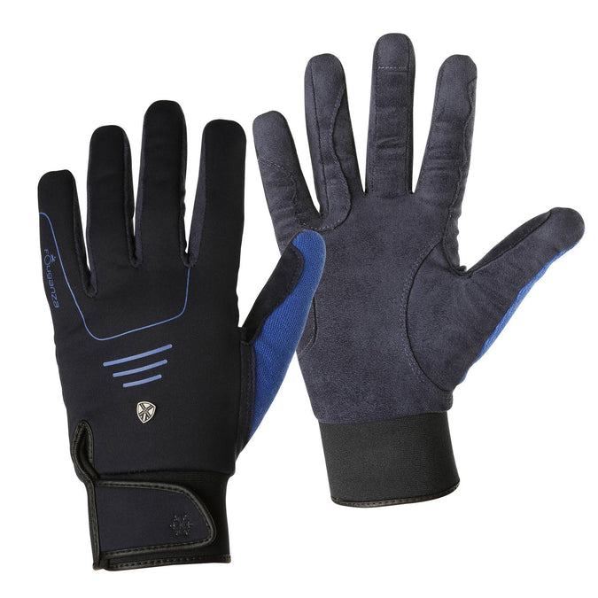 Horse Riding Warm Gloves Perf,midnight blue, photo 1 of 12