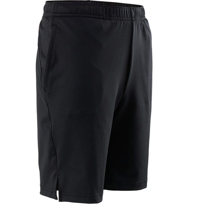 Boys' Gym Shorts Breathable Synthetic S500,black, photo 1 of 5
