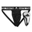 Men's Martial Arts Competition Flexible Groin Guard Briefs,