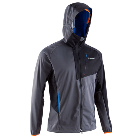 Men's Mountaineering Light Softshell Jacket,charcoal gray