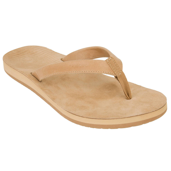 Women's Leather Flip-Flops TO 590,brown, photo 1 of 9