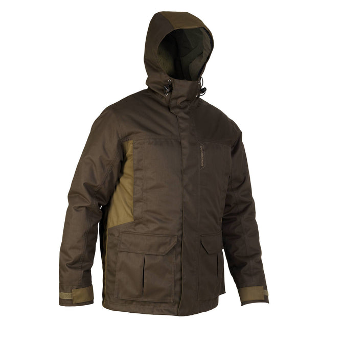 Men's Hunting Warm Waterproof Parka 500,coffee, photo 1 of 10