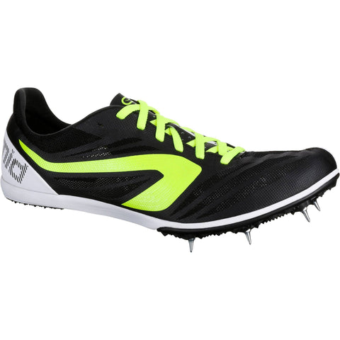 Running Mid-Track Spiked Shoes,black
