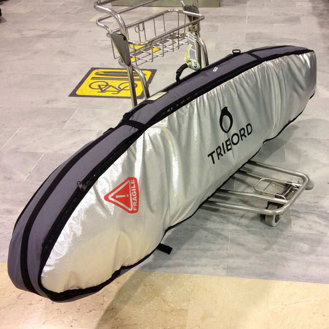 Travel Bag for 3 Surfboards 7' Maximum,dark gray, photo 1 of 3