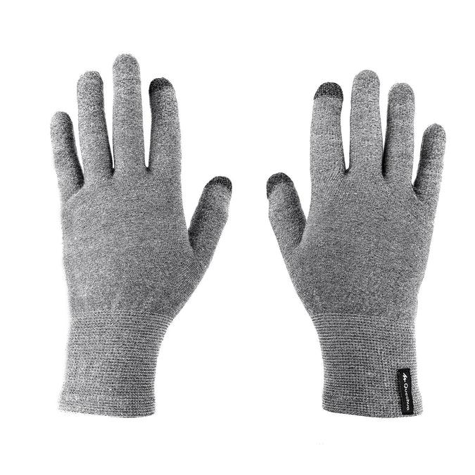 Mountain Trekking Liner Gloves Trek 500,pewter, photo 1 of 12