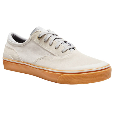 Adult Low-Top Skate Shoes Vulca 500,putty