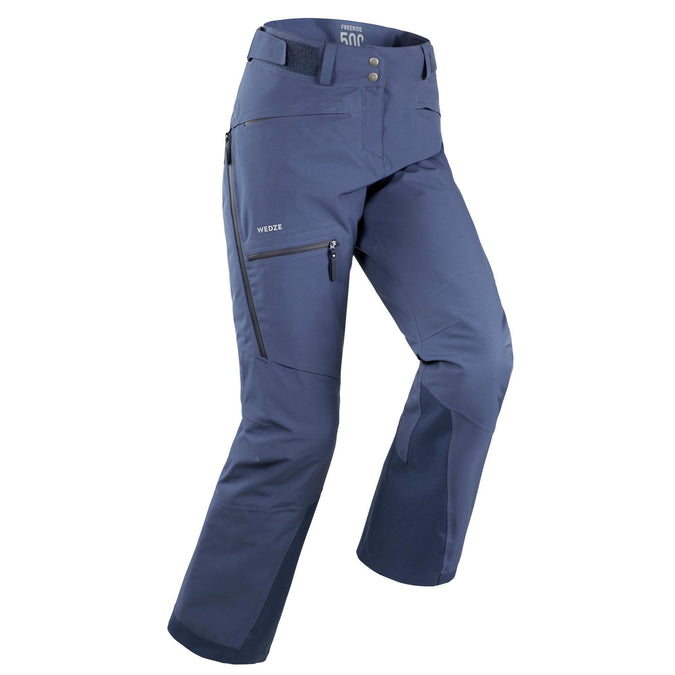 Wedze FR 500, Freeride Ski Pants, Women's,slate blue, photo 1 of 14