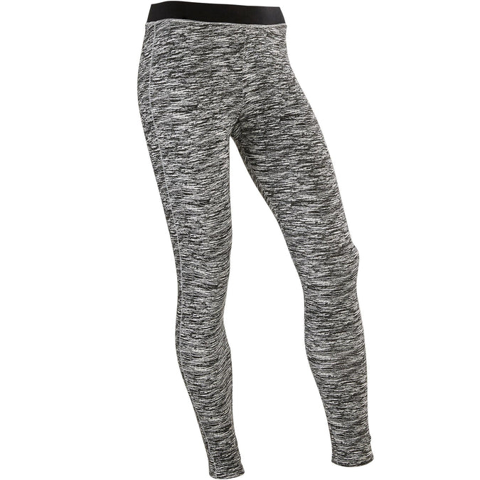 Girls' Gym Leggings Breathable Cotton 500,gray, photo 1 of 7