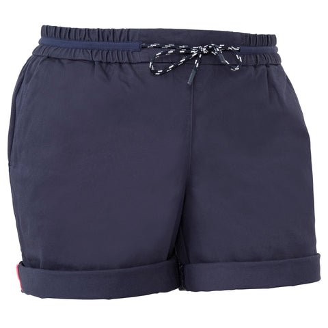Women's Adventure Sailing Shorts 100,navy blue