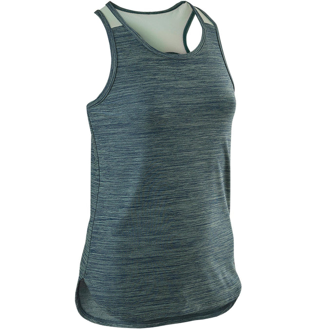 Domyos S500, Breathable Synthetic Gym Tank Top, Girls',dark blue, photo 1 of 6