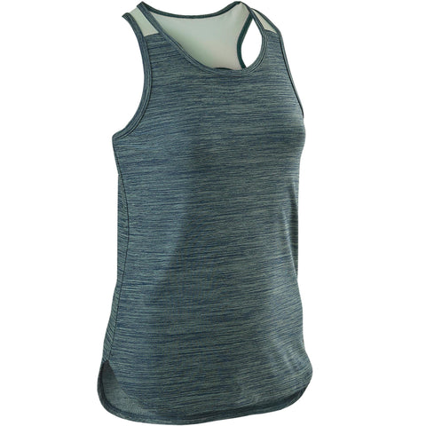 Domyos S500, Breathable Synthetic Gym Tank Top, Girls',dark blue