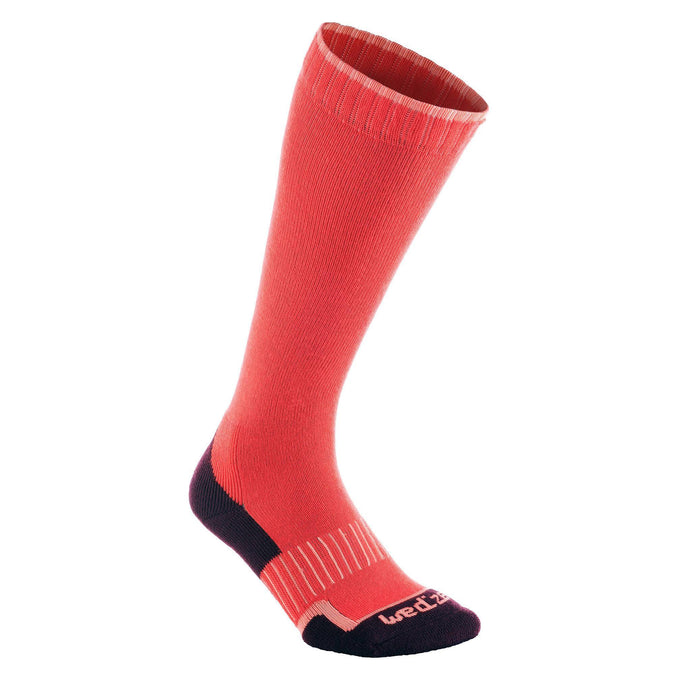 Wedze 100, Ski Socks,strawberry pink, photo 1 of 5