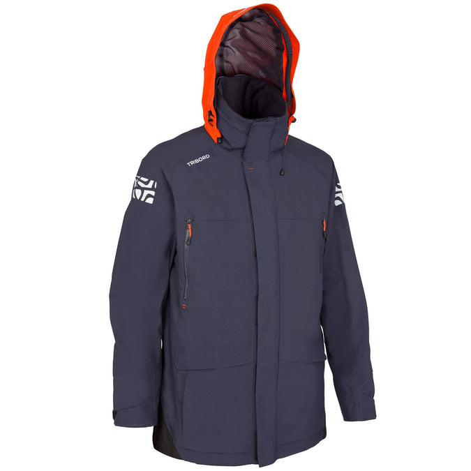 Men's Sailing Waterproof Breathable Jacket Offshoroa 500,dark blue, photo 1 of 24