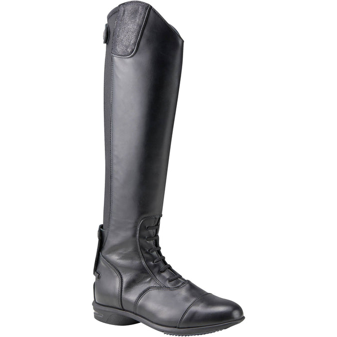 Horse Riding Leather Boots LB 900,black, photo 1 of 22