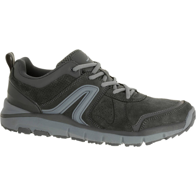 Men's Power Walking Leather Shoes HW 540 Gray,gray, photo 1 of 5
