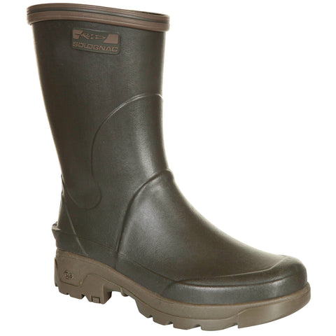 Men's Hunting Durable Low Wellies Inverness 300,black