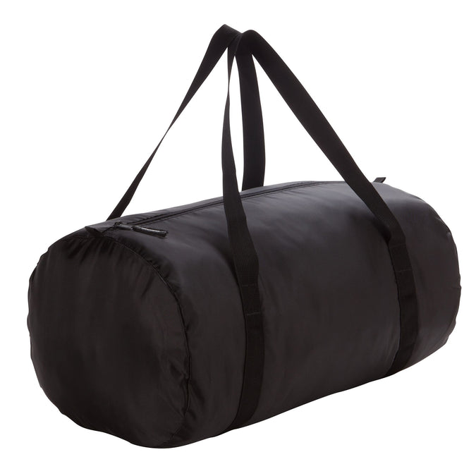 Gym Fold-Down Barrel Bag,black, photo 1 of 10