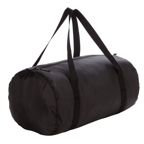 Gym Fold-Down Barrel Bag,black