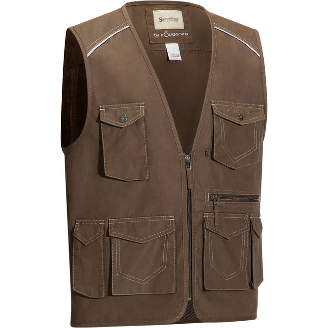 Horse Riding Multi-Pocket Sleeveless Jacket Sentier,khaki, photo 1 of 21