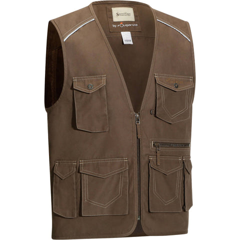 Horse Riding Multi-Pocket Sleeveless Jacket Sentier,khaki