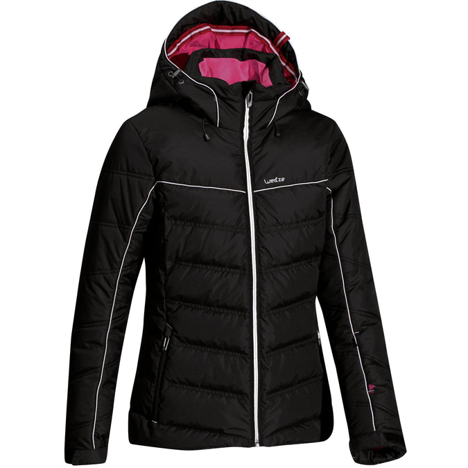 Women's Ski Jacket 500 Warm,black, photo 1 of 17