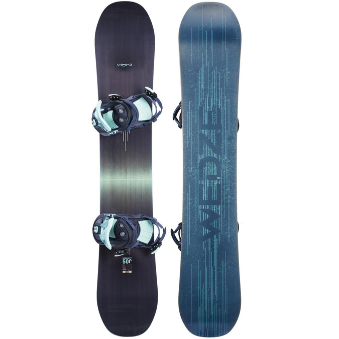 Women's All mountain Freeride Snowboard Serenity 500 Package,navy blue, photo 1 of 7