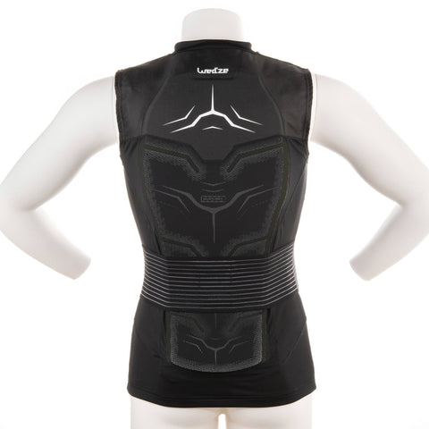 Men's Ski & Snowboard Back Protector Defence Jacket,black
