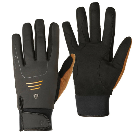 Horse Riding Warm Gloves Perf,carbon gray