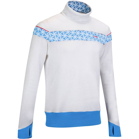 Men's Ski Pullover 100,snowy white