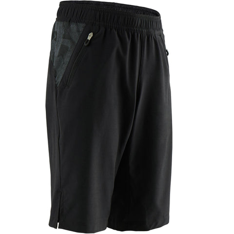 Domyos W500, Breathable Gym Shorts, Kids',black olive