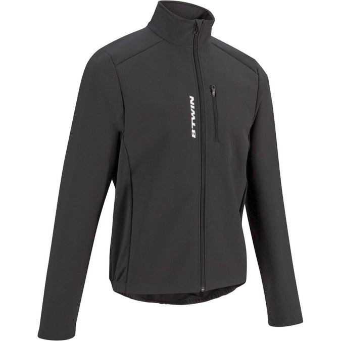 Men's Cycling Jacket 100,black, photo 1 of 26