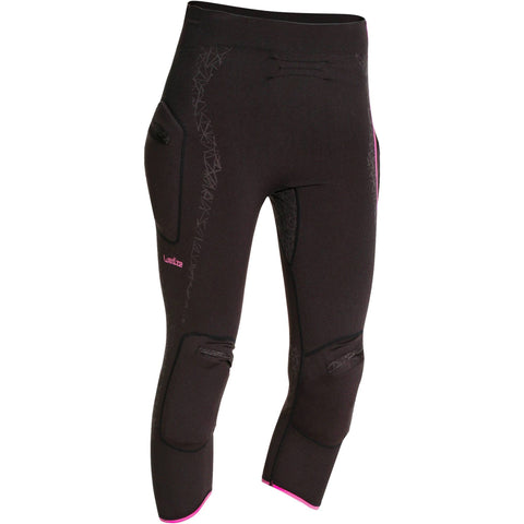 Women's Ski Base Layer Pants Myslim,black