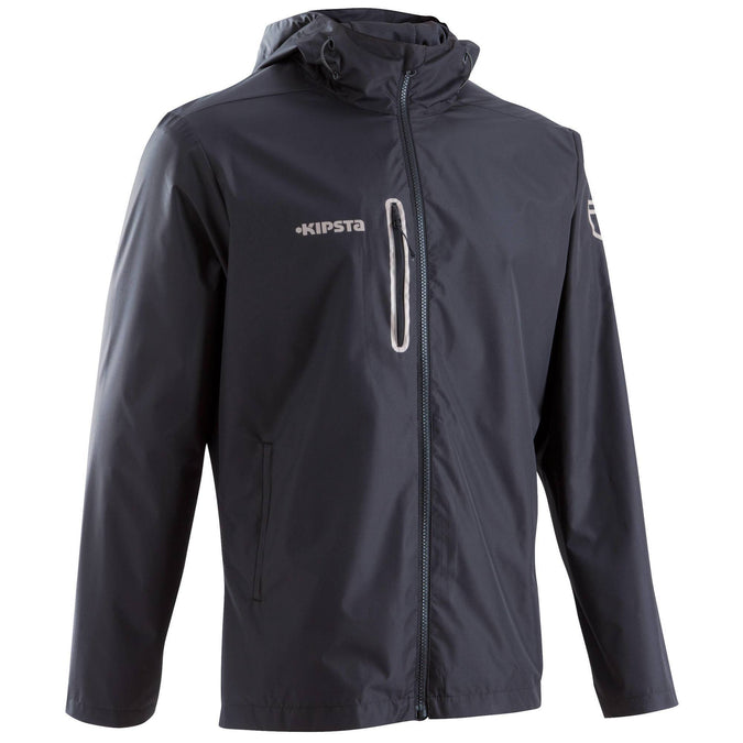 Soccer Water & Windproof Jacket T500,black, photo 1 of 13