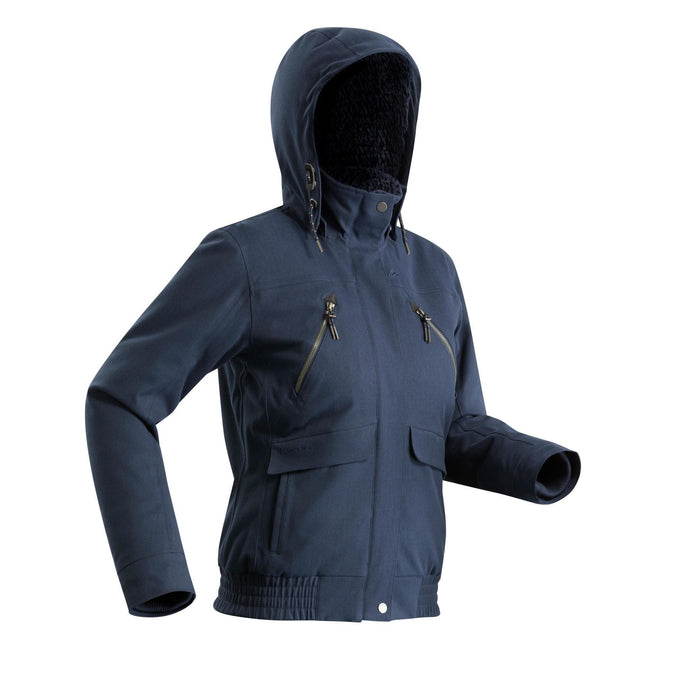 Women's Snow Hiking Ultra-Warm Jacket SH500,navy blue, photo 1 of 10