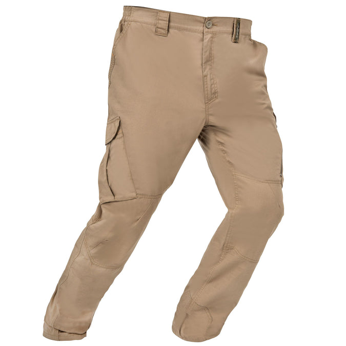 Men's Hunting Lightweight Pants 500,light brown, photo 1 of 17