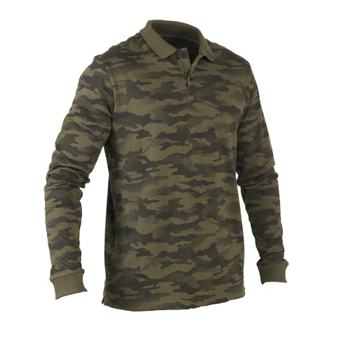 Men's Hunting Long-Sleeve Polo Shirt 100,