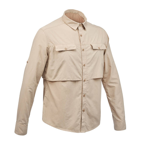 Men's Backpacking Long-sleeved Shirt Desert 500,