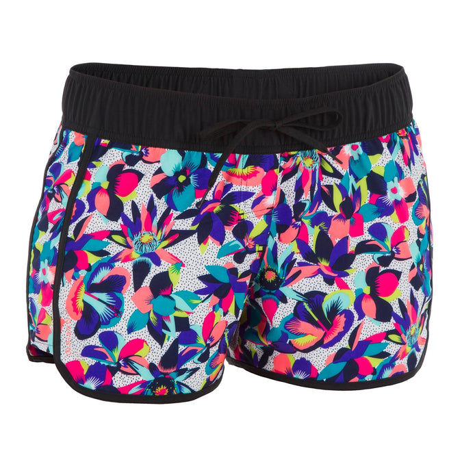 Women's Surfing Elastic Waistband & Drawstring Boardshorts Tini Street,multicolor, photo 1 of 8