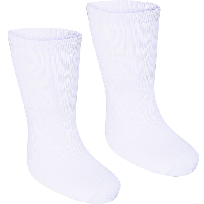 Domyos 100, Mid-Length Gym Socks, Babies', 2-Pack,snowy white, photo 1 of 6