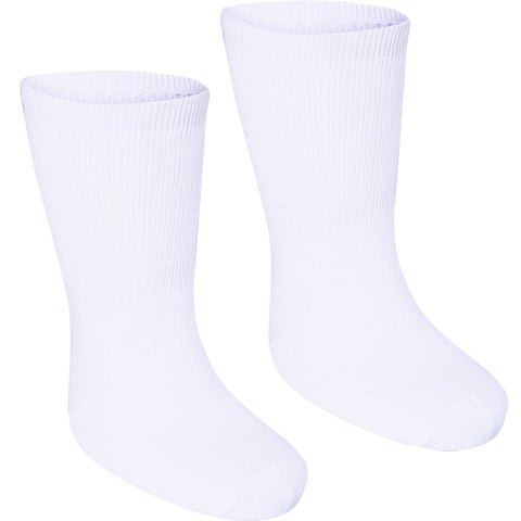Domyos 100, Mid-Length Gym Socks, Babies', 2-Pack,snowy white