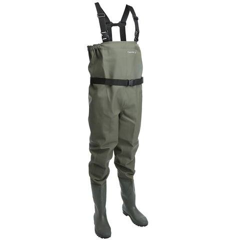 Fishing PVC Waders Start,khaki