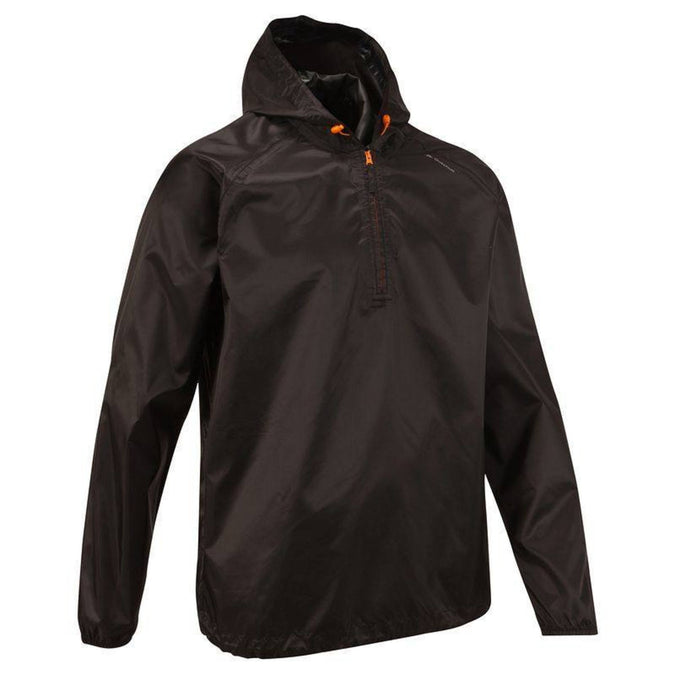 Men's Country Walking Waterproof Rain Jacket Raincut NH100,black, photo 1 of 9
