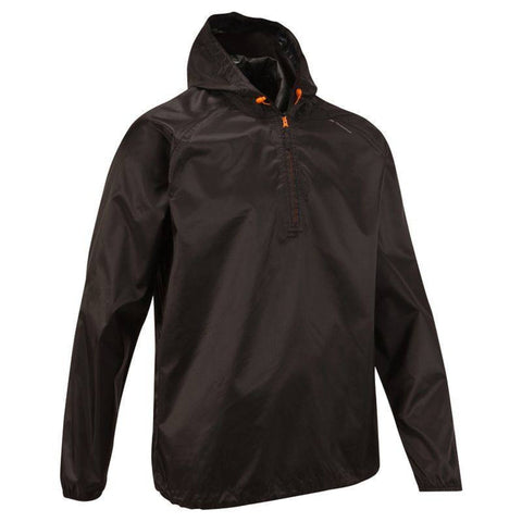 Men's Country Walking Waterproof Rain Jacket Raincut NH100,black