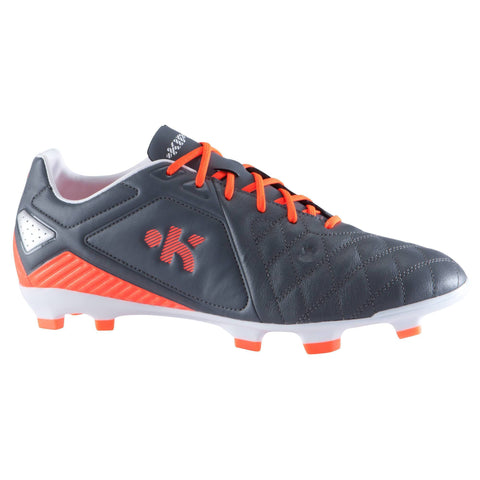 Soccer Firm Ground Shoes Agility Pro FG 700,charcoal gray